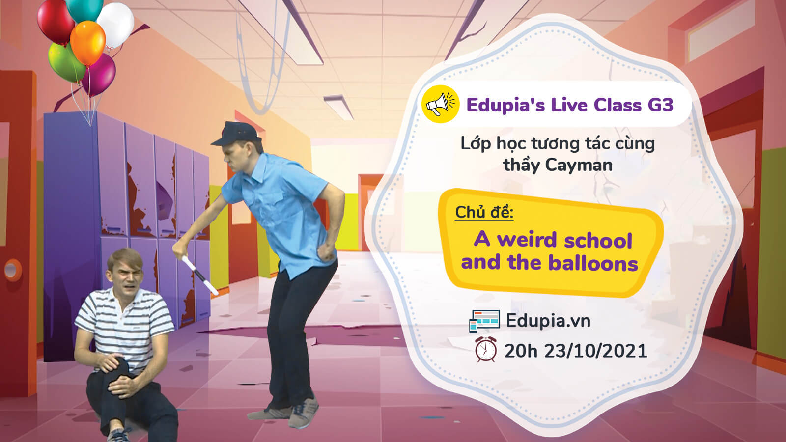 A weird school and the balloons